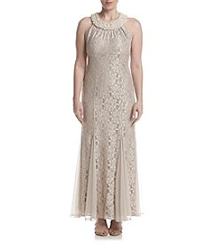 R&M Richards® Petites' Long Lace Dress