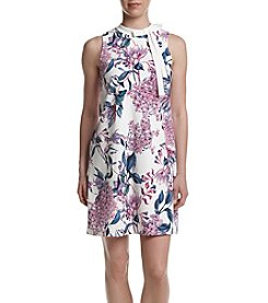 Ivanka Trump® Tie Neck Scuba Shift Dress
