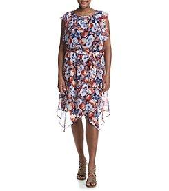 AGB® Plus Size Floral Dress