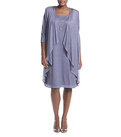 R&M Richards® Plus Size Metallic Dress