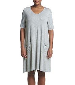 Nina Leonard Plus Size Trapeze Dress