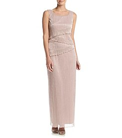 Connected® Metallic Tier Maxi Dress