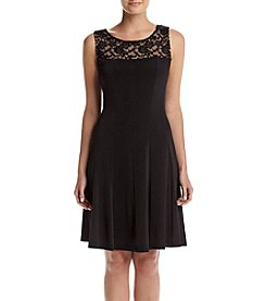 Connected® Lace Top Dress