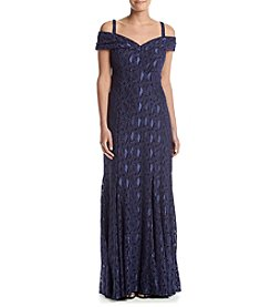 R&M Richards® Off The Shoulder Empire Mermaid Dress