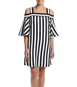 Taylor Dresses Off The Shoulder Striped Dress