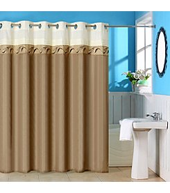 Abilene Embroidered Shower Curtain with Grommets
