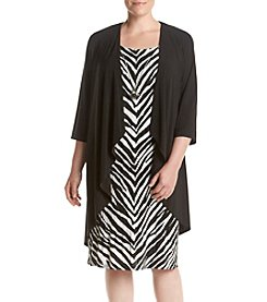 R&M Richards® Plus Size Zebra Necklace Jacket Dress