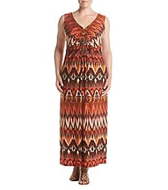 R&M Richards® Plus Size Printed Maxi Dress