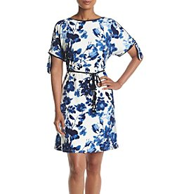 Ivanka Trump® Floral Printed Cold Shoulder Dress