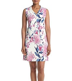 Ivanka Trump® V-neck Printed Dress
