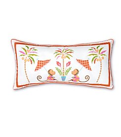 Haute Girls Safari Monkey Decorative Pillow