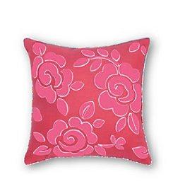Haute Girls Rosalie Embroidered Flower Decorative Pillow