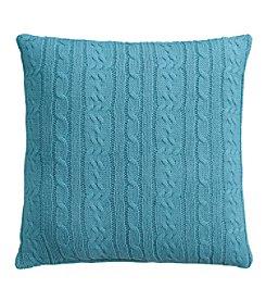 IZOD Cable Knit Larkspur Square Decorative Pillow