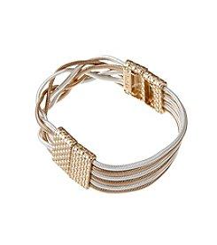 Napier® Two Tone Stretch Bracelet
