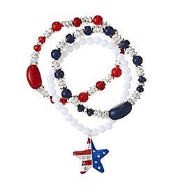 Studio Works® Star Charm Three Piece Bracelet Set