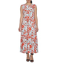 Chaus Belted Garden Lines Dress