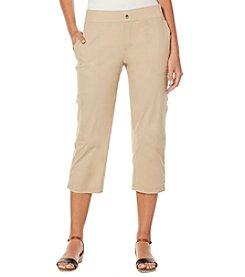 Rafaella® Petites' Solid Pull On Capri Pants