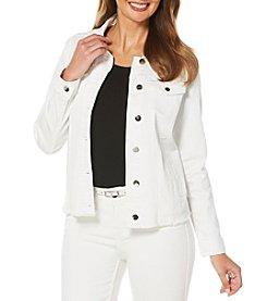 Rafaella® Petites' Denim Jacket With Back Detail