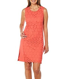 Rafaella® Petites' Lace Overlay Dress
