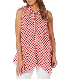 Rafaella® Petites' Gingham Print Shirt