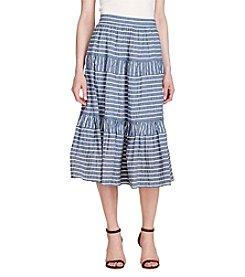 Lauren Ralph Lauren® Seersucker Midi Skirt