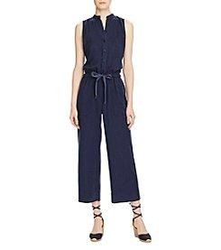 Lauren Ralph Lauren® Wide-Leg Twill Jumpsuit