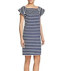 Lauren Ralph Lauren® Striped Off-The-Shoulder-Dress