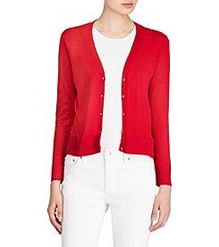 Lauren Ralph Lauren® Eyelet-Back Linen Cardigan