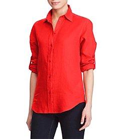 Lauren Ralph Lauren® Linen Roll-Cuff Shirt