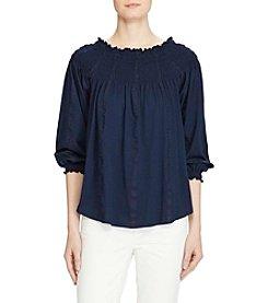 Lauren Ralph Lauren® Smocked Off-The-Shoulder Top