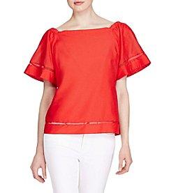 Lauren Ralph Lauren® Cotton-Silk Off-The-Shoulder Top