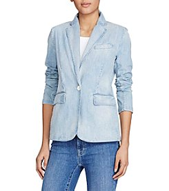 Lauren Ralph Lauren® Single-Button Denim Blazer