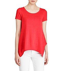 Lauren Ralph Lauren® Handkerchief-Hem T-Shirt