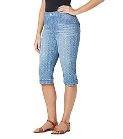 Bandolino® Petites' Brady Stripe Skimmer Jeans