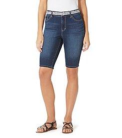 Bandolino® Petites' Belted Denim Bermuda Shorts