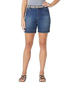 Bandolino® Petites' Belted Denim Shorts