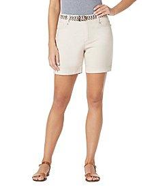 Bandolino® Petites' Belted Twill Shorts
