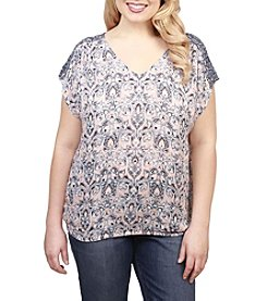 Lucky Brand® Plus Size V-Neck Peasant Top