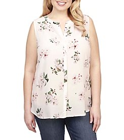 Lucky Brand® Plus Size Floral Silk Tank