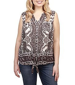 Lucky Brand® Plus Size Tie Front Top