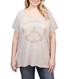 Lucky Brand® Plus Size Peace Sign Tee