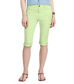 Chaps® Stretch Cotton Five-Pocket Shorts