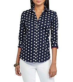 Chaps® Non-Iron Polka-Dot Sateen Shirt