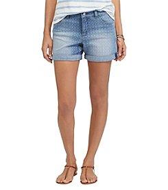 Chaps® Geo-Print Stretch Denim Shorts