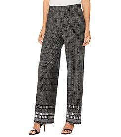 Rafaella® Petites' Wide Leg Printed Knit Pants