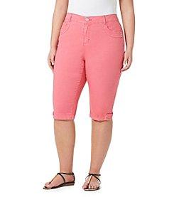 Bandolino® Plus Size Brady Twill Skimmer Pants