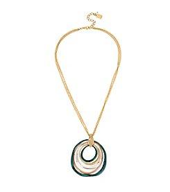 Robert Lee Morris Soho™ Sculptural Multi Circle Pendant Necklace