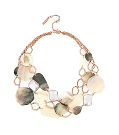 Kenneth Cole® Mixed Shell Multi Row Necklace