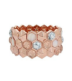 Kenneth Cole® Mixed Semiprecious Stone Geometric Stretch Bracelet