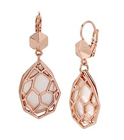 Kenneth Cole® Shell Geometric Cut Out Layered Drop Earrings